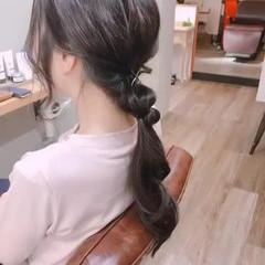 ポニーテール ポニーテールアレンジ ヘアアレンジ ナチュラル ヘアスタイルや髪型の写真・画像