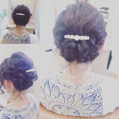 大人女子 編み込み ボブ ヘアアレンジ ヘアスタイルや髪型の写真・画像