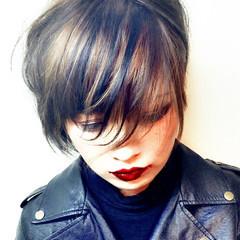 ストリート ボブ ハイライト ローライト ヘアスタイルや髪型の写真・画像