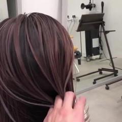バレイヤージュ 外国人風カラー 簡単スタイリング ストリート ヘアスタイルや髪型の写真・画像