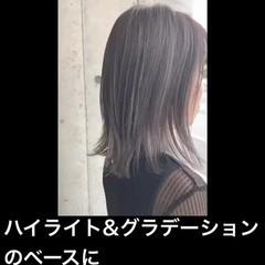 ハイライト グラデーションカラー ナチュラル 透明感カラー ヘアスタイルや髪型の写真・画像