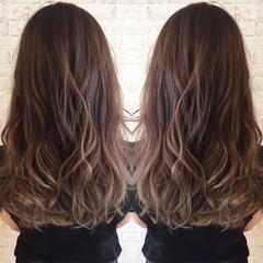 外国人風 ブラウン グラデーションカラー レッド ヘアスタイルや髪型の写真・画像