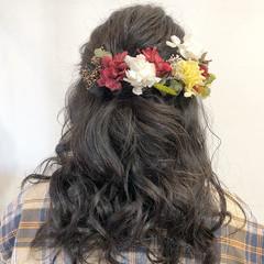 簡単ヘアアレンジ ヘアアレンジ セミロング 卒業式 ヘアスタイルや髪型の写真・画像