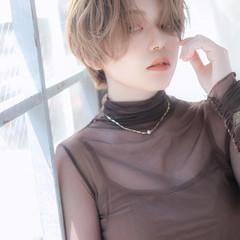 外国人風 ハイトーン ショート アンニュイ ヘアスタイルや髪型の写真・画像
