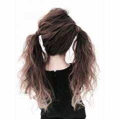 アップスタイル ヘアアレンジ ガーリー ツインテール ヘアスタイルや髪型の写真・画像