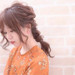 ロング ディズニー ヘアアレンジ ナチュラル ヘアスタイルや髪型の写真・画像