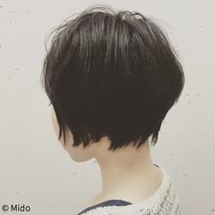 ナチュラル 黒髪 ショート ヘアスタイルや髪型の写真・画像