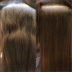 セミロング 縮毛矯正 ナチュラル 髪質改善トリートメント ヘアスタイルや髪型の写真・画像