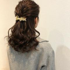 編み込みヘア 結婚式 編み込み ミディアム ヘアスタイルや髪型の写真・画像