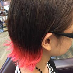 ボブ ピンク モード レッド ヘアスタイルや髪型の写真・画像