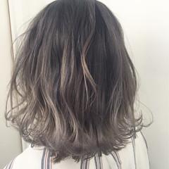 グラデーションカラー 外国人風カラー ロブ ミディアム ヘアスタイルや髪型の写真・画像