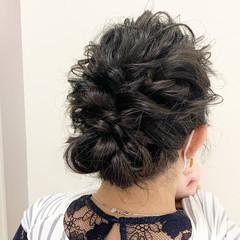 ふわふわヘアアレンジ 結婚式ヘアアレンジ ナチュラル ロング ヘアスタイルや髪型の写真・画像