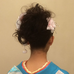 ミディアム ブライダル ヘアアレンジ 着物 ヘアスタイルや髪型の写真・画像