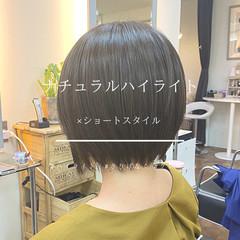 ショートヘア 大人ハイライト ショート 大人ショート ヘアスタイルや髪型の写真・画像