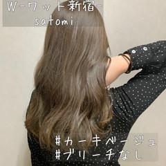 大人かわいい セミロング イルミナカラー アンニュイほつれヘア ヘアスタイルや髪型の写真・画像