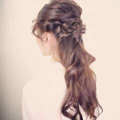 ハーフアップ モテ髪 春 コンサバ ヘアスタイルや髪型の写真・画像