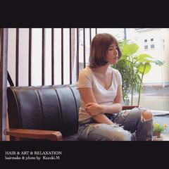ガーリー 大人かわいい アウトドア リラックス ヘアスタイルや髪型の写真・画像
