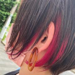 ミニボブ ショートボブ ボブ インナーカラー ヘアスタイルや髪型の写真・画像