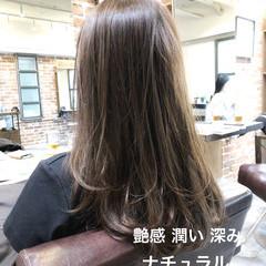 ブラウン ブランジュ ナチュラル イルミナカラー ヘアスタイルや髪型の写真・画像