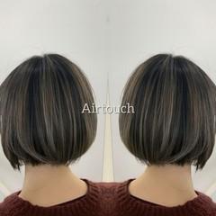 ピンクベージュ バレイヤージュ 外国人風カラー ラベンダーピンク ヘアスタイルや髪型の写真・画像