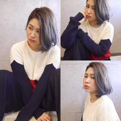 ストリート ハイトーン ボーイッシュ ダブルカラー ヘアスタイルや髪型の写真・画像
