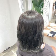 オリーブ アディクシーカラー ミディアム 透け感ヘア ヘアスタイルや髪型の写真・画像