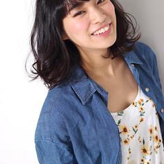 暗髪 大人かわいい フェミニン ゆるふわ ヘアスタイルや髪型の写真・画像