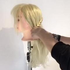 エレガント 編み込み 外国人風 上品 ヘアスタイルや髪型の写真・画像
