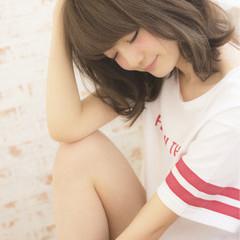 ピュア 大人かわいい フェミニン ミディアム ヘアスタイルや髪型の写真・画像