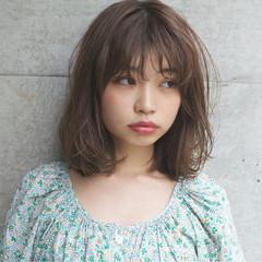 外国人風 ボブ くせ毛風 パーマ ヘアスタイルや髪型の写真・画像