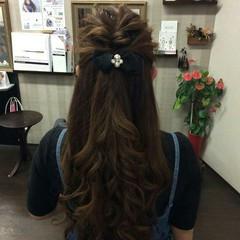 ヘアアレンジ 結婚式 ハーフアップ ロング ヘアスタイルや髪型の写真・画像