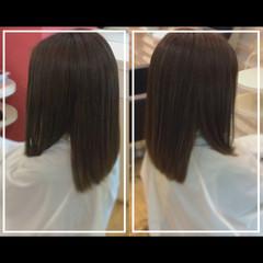 ナチュラル 髪質改善カラー 艶髪 セミロング ヘアスタイルや髪型の写真・画像