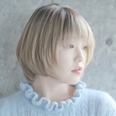 ヘアアレンジ ショート フェミニン ストレート ヘアスタイルや髪型の写真・画像