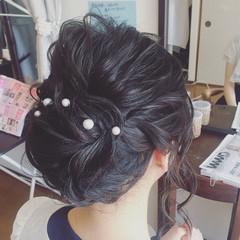 ミディアム ロープ編み 小顔 結婚式 ヘアスタイルや髪型の写真・画像