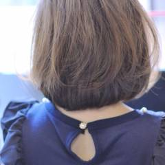 ボブ ナチュラル モテ髪 丸顔 ヘアスタイルや髪型の写真・画像