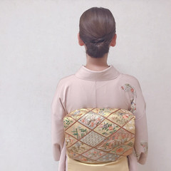 着物 ミディアム ヘアアレンジ 和装ヘア ヘアスタイルや髪型の写真・画像