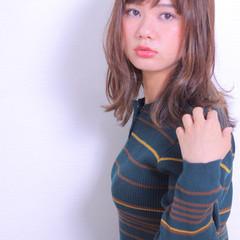 女子力 エフォートレス セミロング 愛され ヘアスタイルや髪型の写真・画像