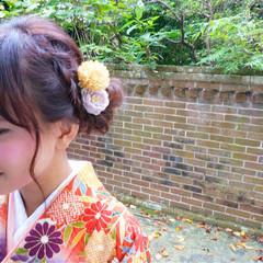 成人式 ロング 着物 ヘアアレンジ ヘアスタイルや髪型の写真・画像