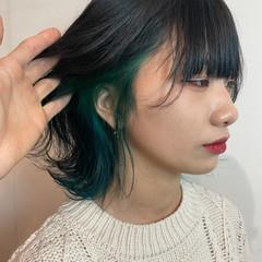 ショート モード インナーカラー ウルフカット ヘアスタイルや髪型の写真・画像