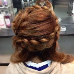 編み込み コンサバ 大人かわいい モテ髪 ヘアスタイルや髪型の写真・画像