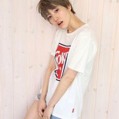 外国人風 大人かわいい ベリーショート ショート ヘアスタイルや髪型の写真・画像