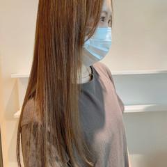ブラウンベージュ インナーカラー 髪質改善トリートメント ふんわり前髪 ヘアスタイルや髪型の写真・画像