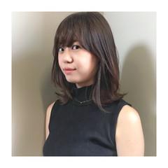 女子会 外ハネ ミディアム オフィス ヘアスタイルや髪型の写真・画像