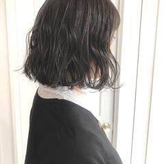 ボブ 切りっぱなしボブ ミニボブ ナチュラル ヘアスタイルや髪型の写真・画像