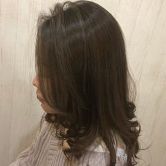 ナチュラル 外国人風カラー セミロング 外国人風フェミニン ヘアスタイルや髪型の写真・画像