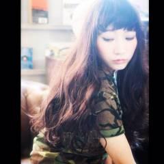 ロング 秋 ナチュラル バイオレットアッシュ ヘアスタイルや髪型の写真・画像