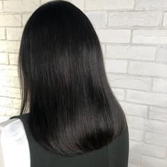 ツヤ髪 ナチュラル ロング ロブ ヘアスタイルや髪型の写真・画像