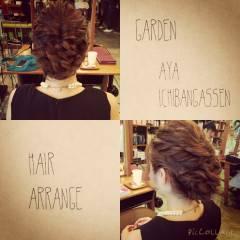 大人かわいい ナチュラル ヘアアレンジ 三つ編み ヘアスタイルや髪型の写真・画像