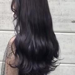 透明感カラー ラベンダーカラー ロング ナチュラル ヘアスタイルや髪型の写真・画像
