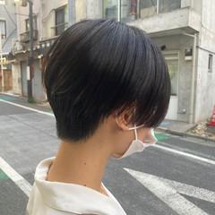 ショートヘア アッシュ マッシュショート ナチュラル ヘアスタイルや髪型の写真・画像